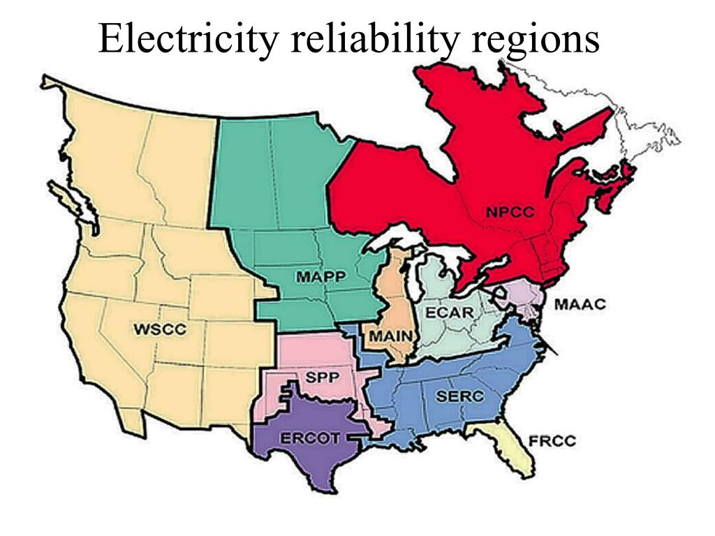 Electricity reliability regions