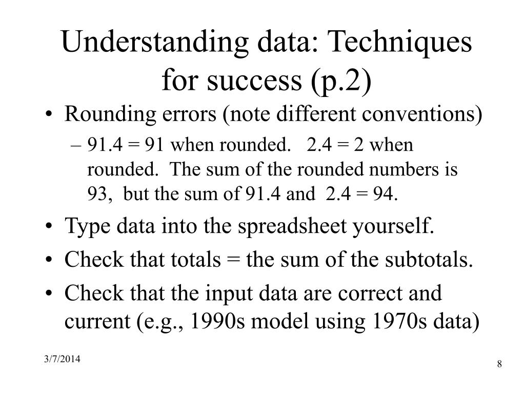 Understanding data: Techniques for success (p.2)