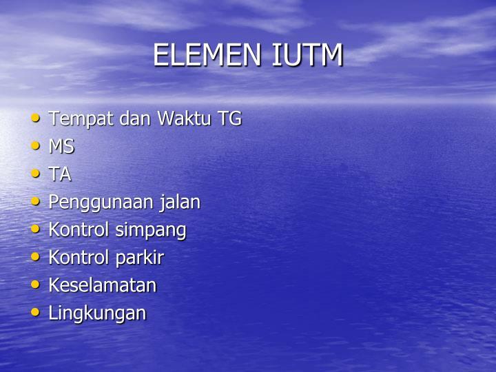 ELEMEN IUTM