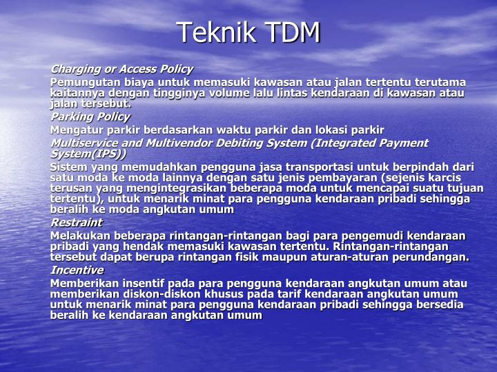 Teknik TDM