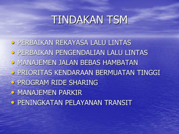 TINDAKAN TSM