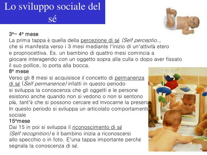 Lo sviluppo sociale del sé