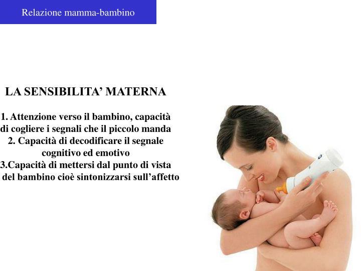 Relazione mamma-bambino