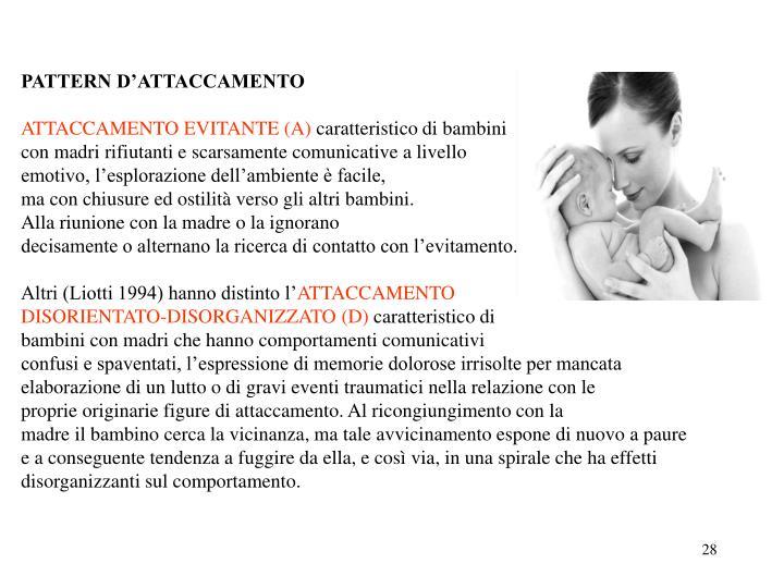PATTERN D'ATTACCAMENTO