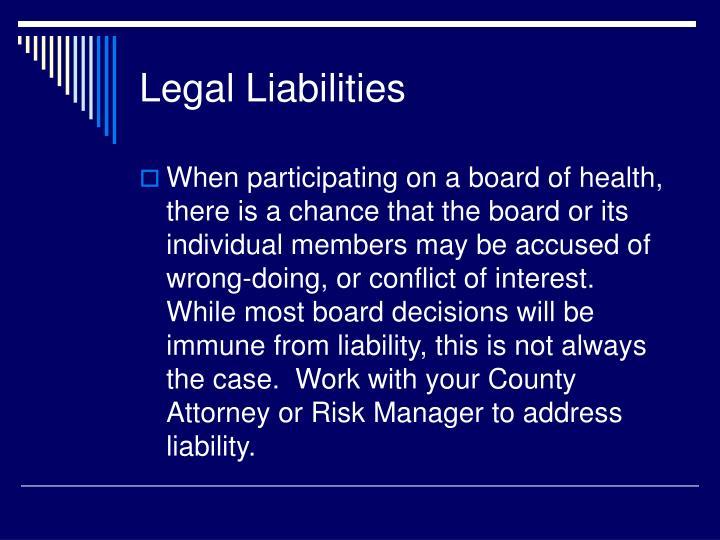 Legal Liabilities