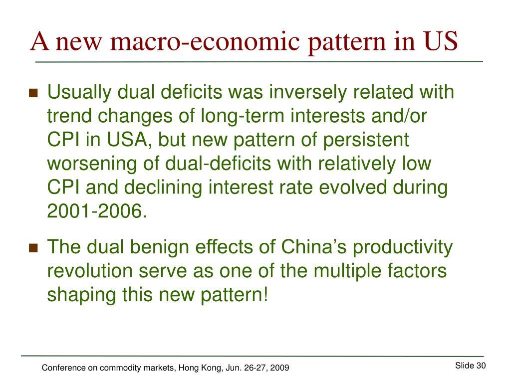 A new macro-economic pattern in US