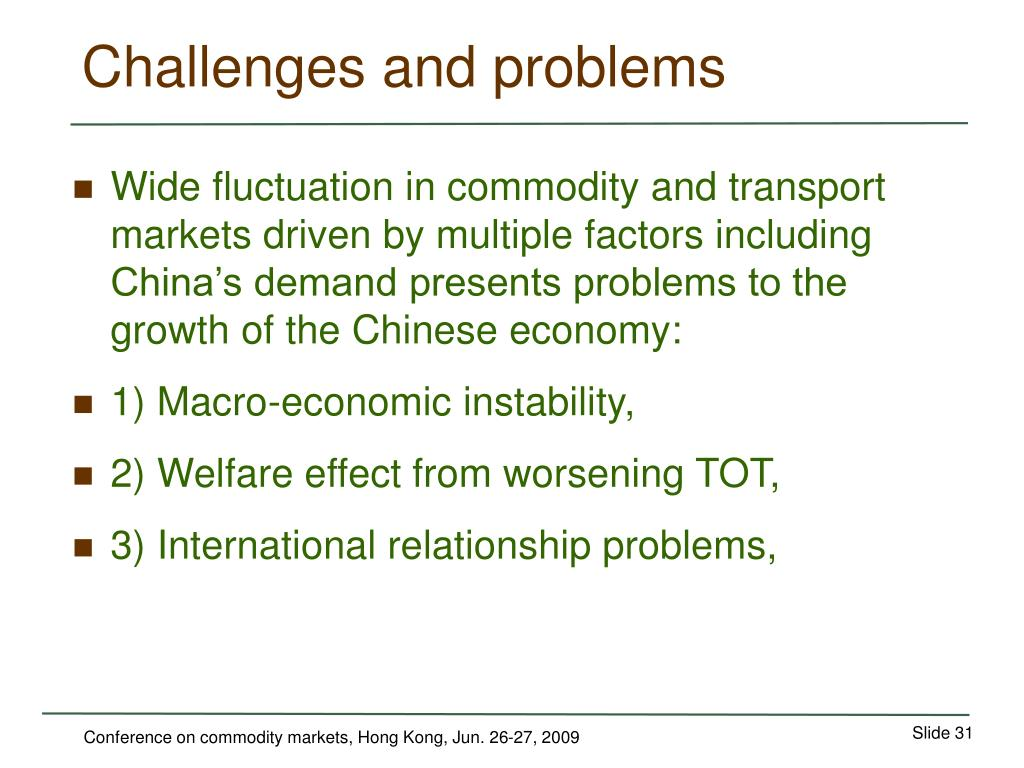 Challenges and problems