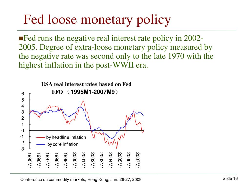 Fed loose monetary policy