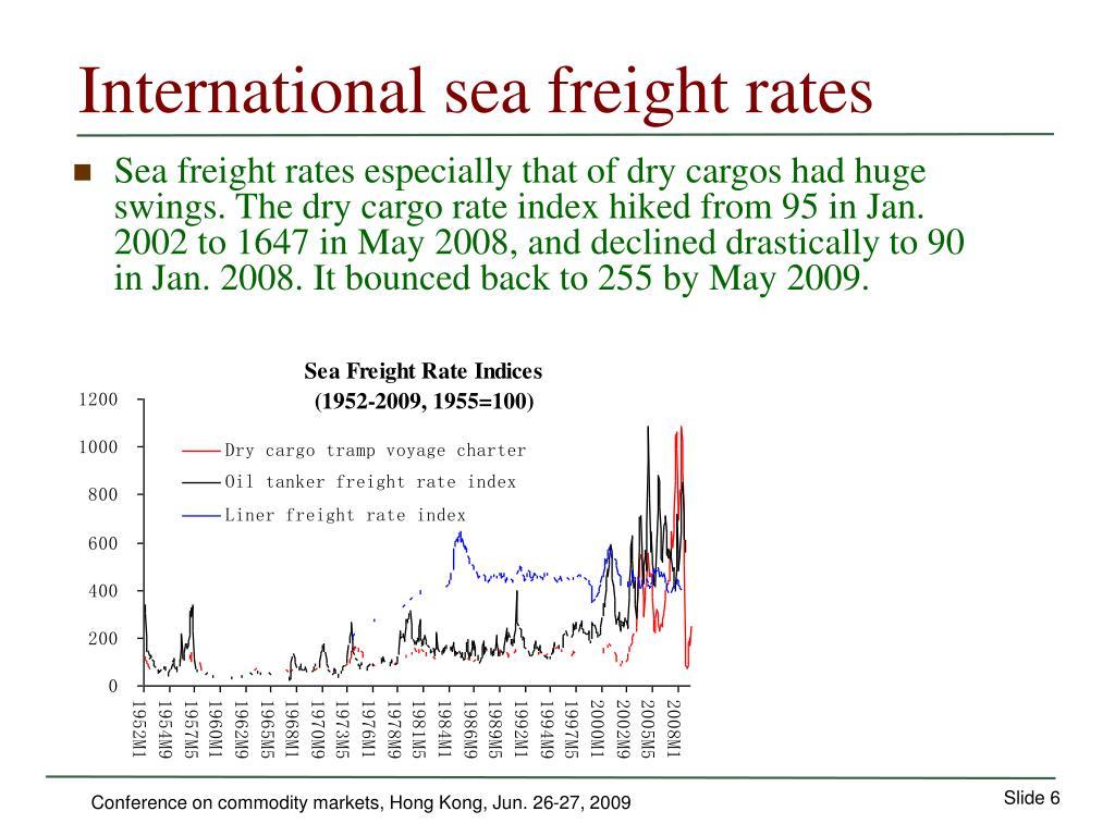 International sea freight rates
