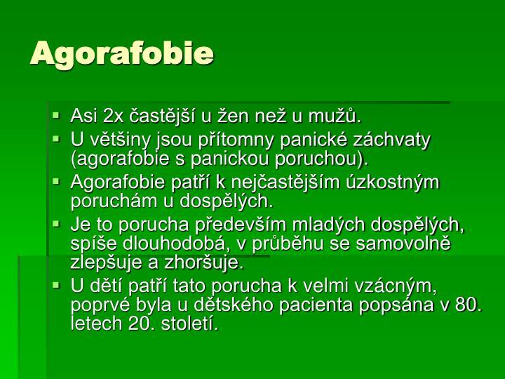 Agorafobie