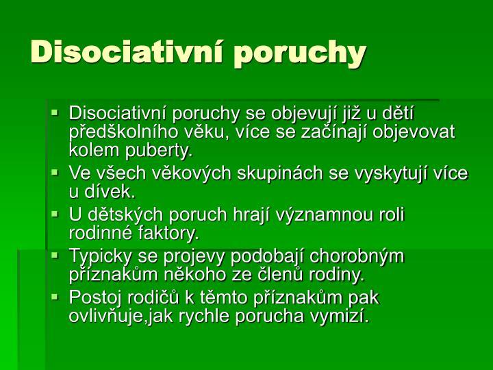 Disociativní poruchy