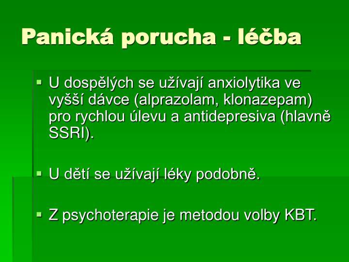 Panická porucha - léčba