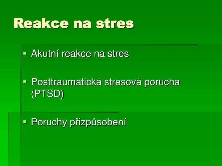 Reakce na stres