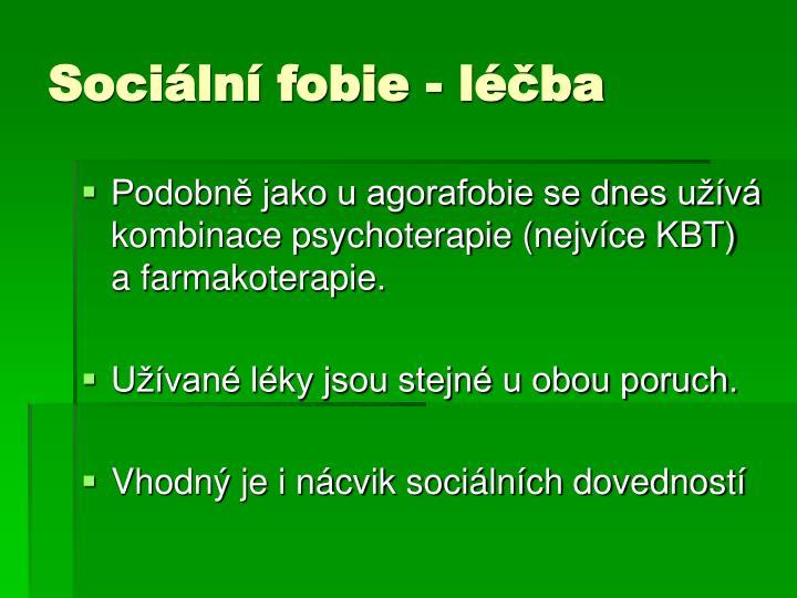Sociální fobie - léčba