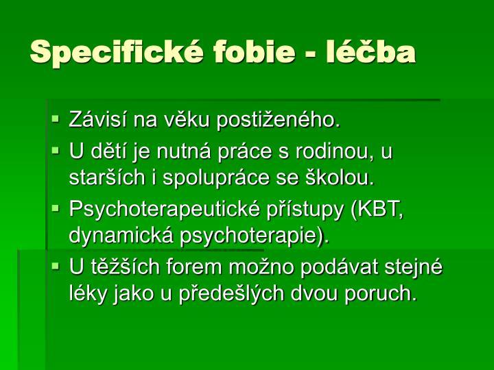 Specifické fobie - léčba