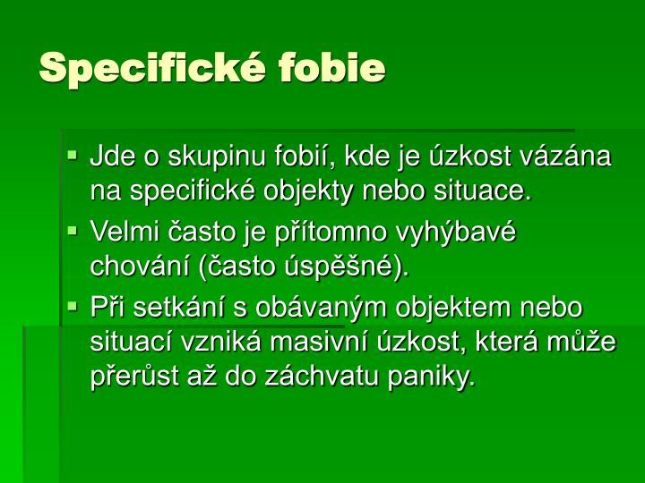 Specifické fobie