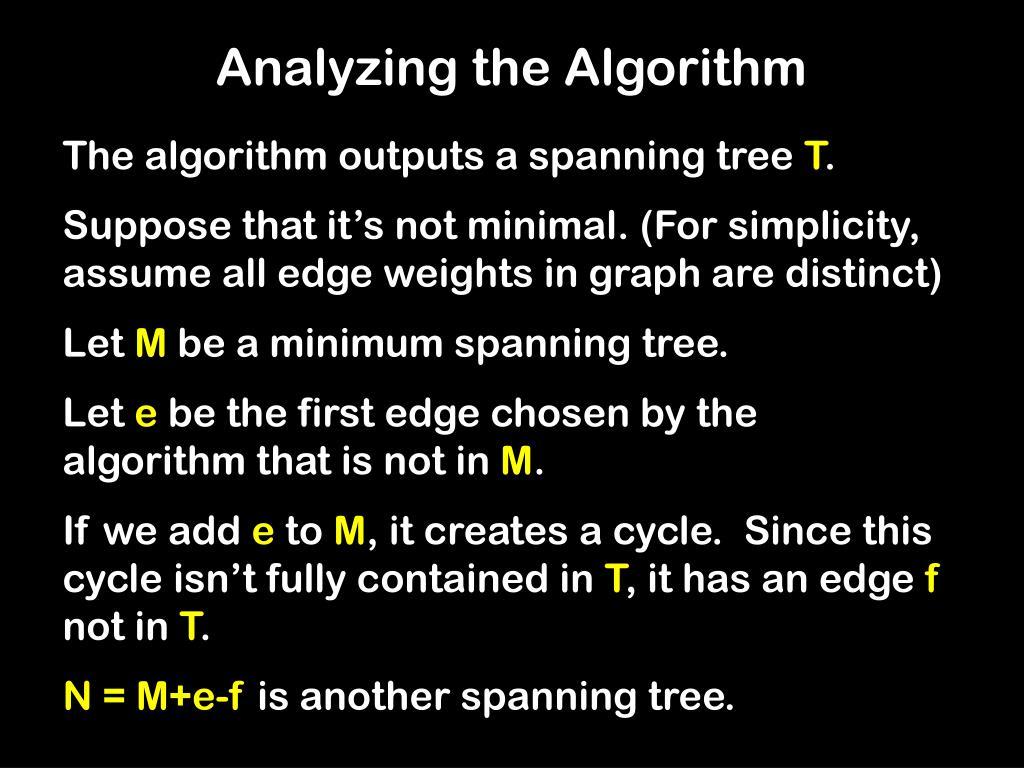 Analyzing the Algorithm