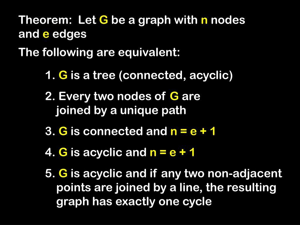 Theorem:  Let