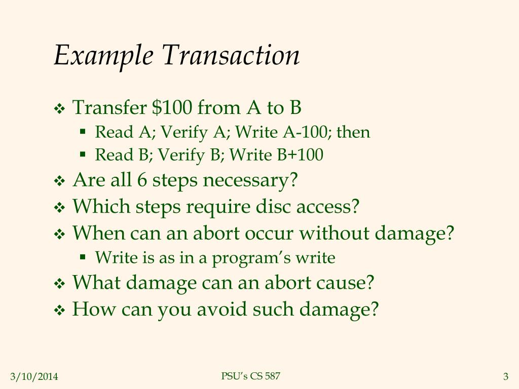 Example Transaction