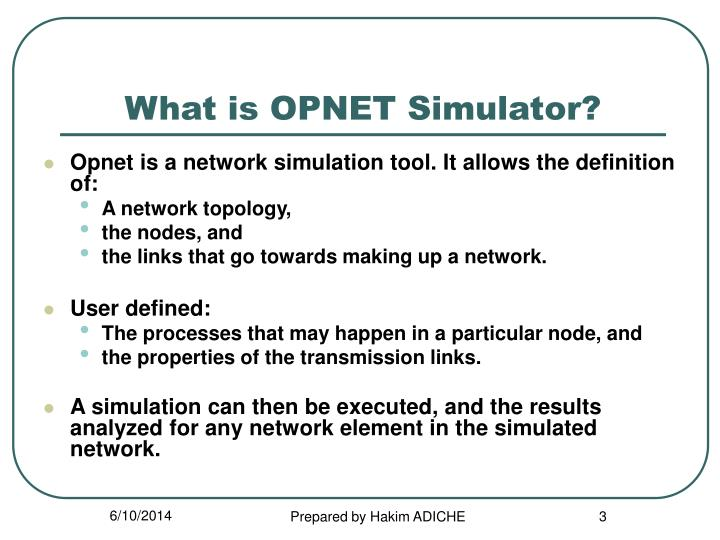 What is opnet simulator