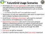 futuregrid usage scenarios