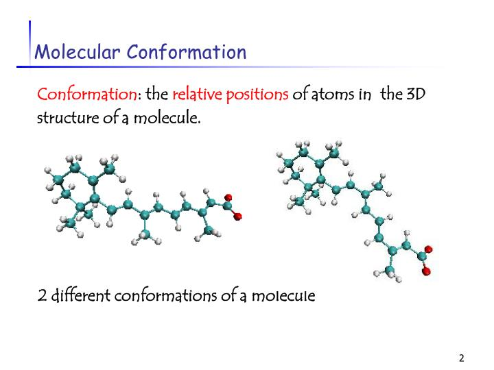 Molecular conformation