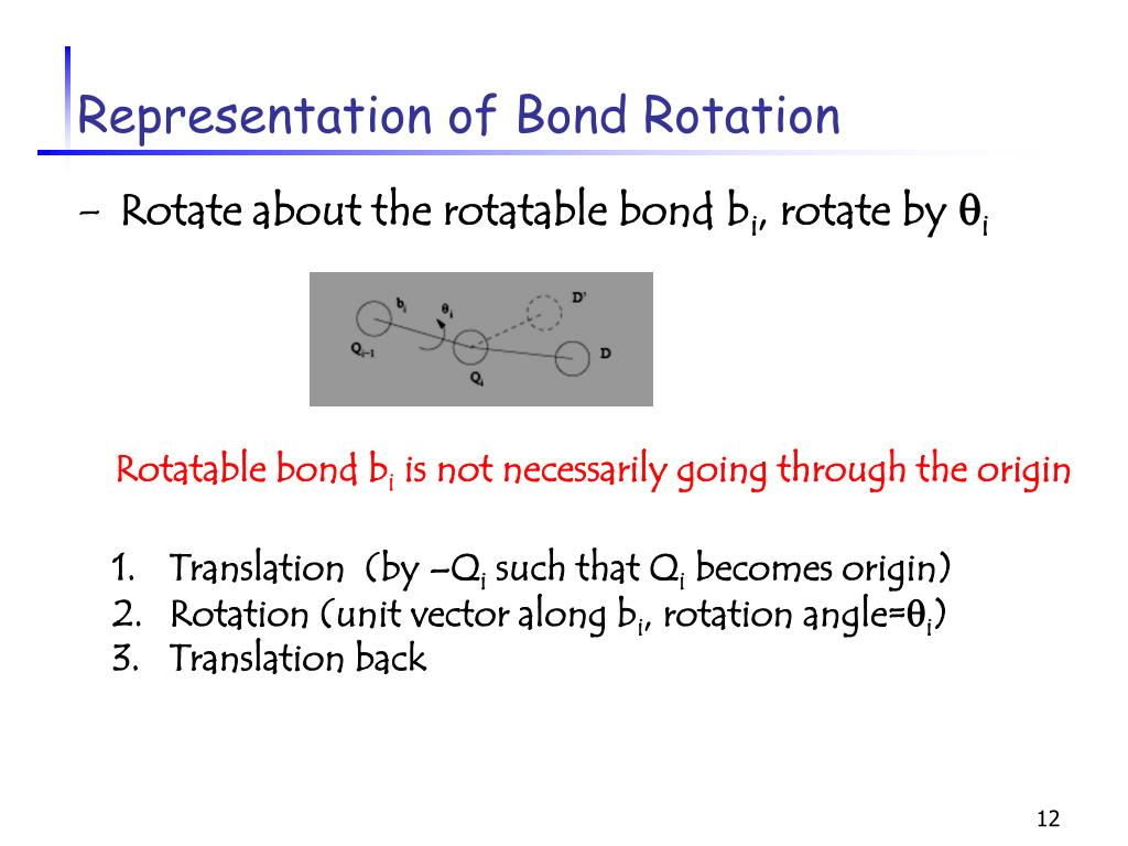Representation of Bond Rotation