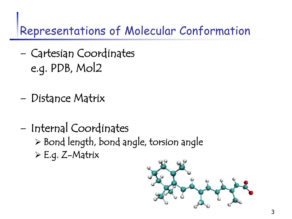 Representations of Molecular Conformation