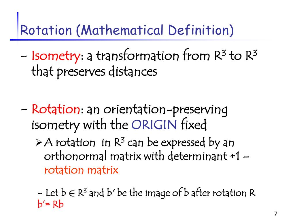 Rotation (Mathematical Definition)