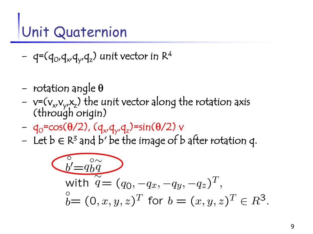Unit Quaternion