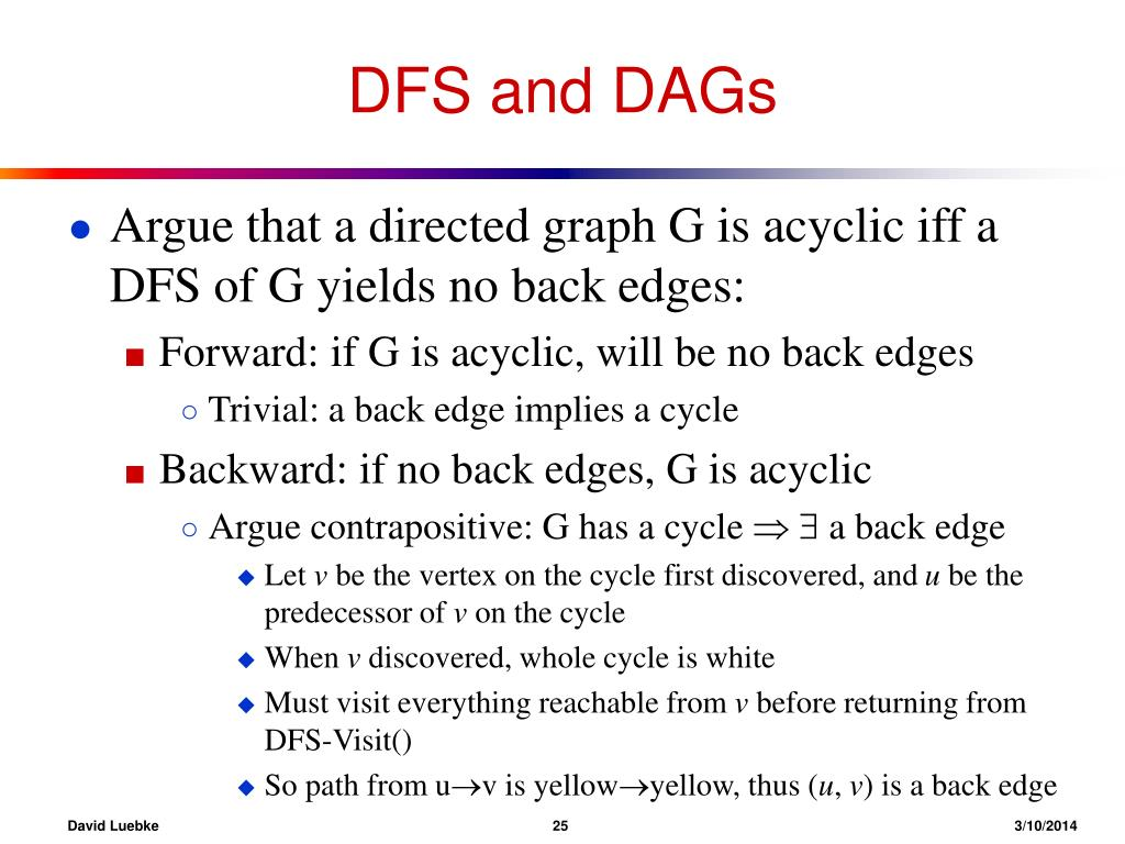 DFS and DAGs