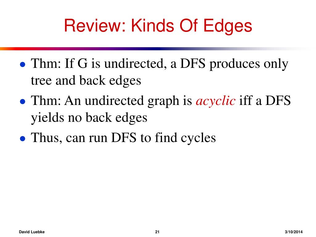 Review: Kinds Of Edges