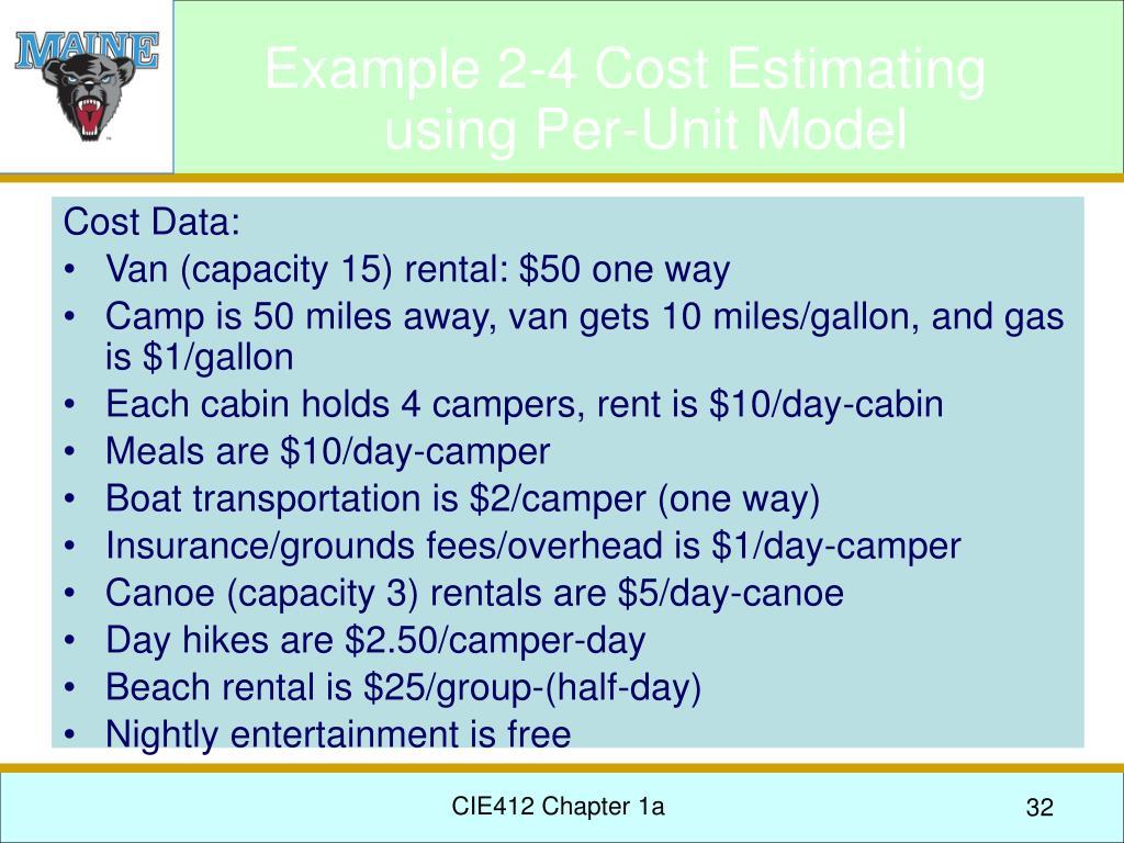 Cost Data: