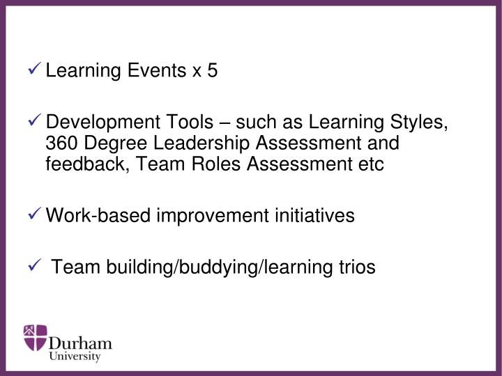 Learning Events x 5