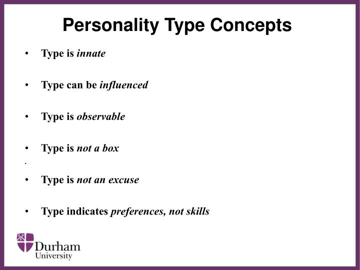 Personality Type Concepts