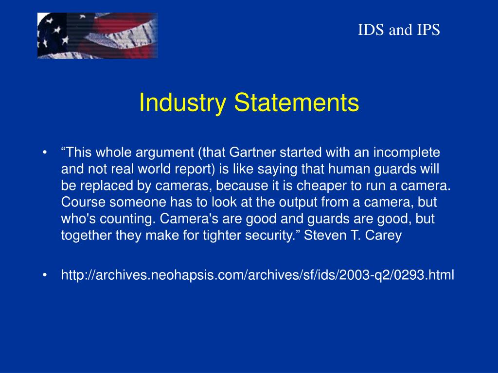 Industry Statements