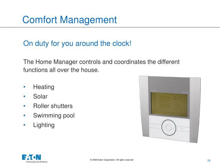 Comfort Management