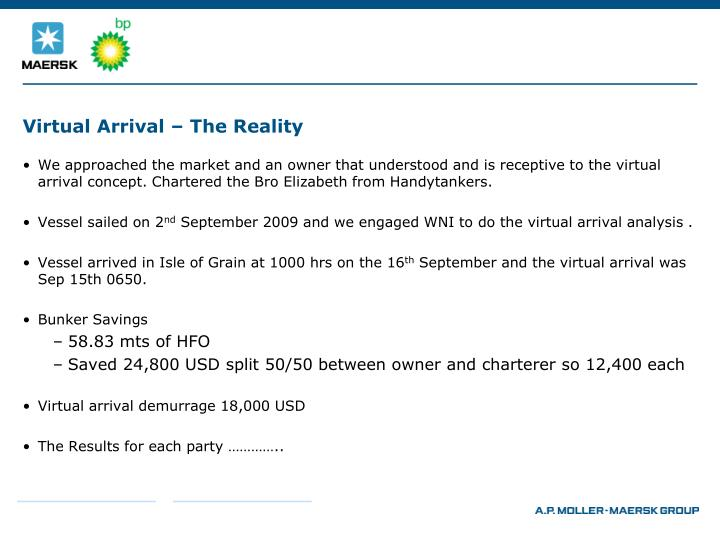 Virtual arrival the reality1
