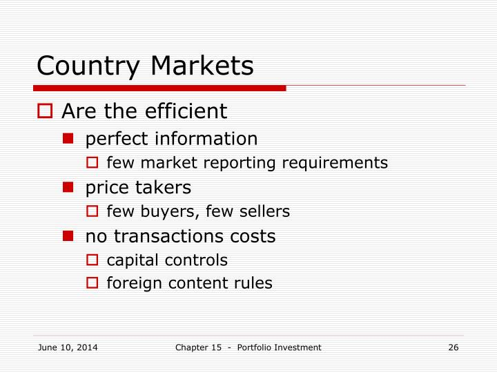 Country Markets