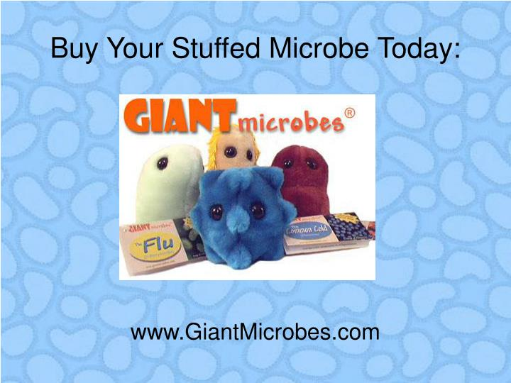 Buy Your Stuffed Microbe Today: