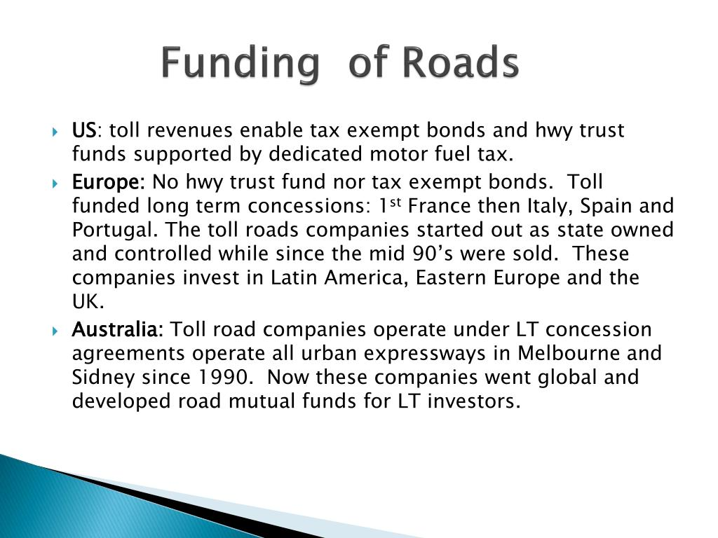 Funding  of Roads