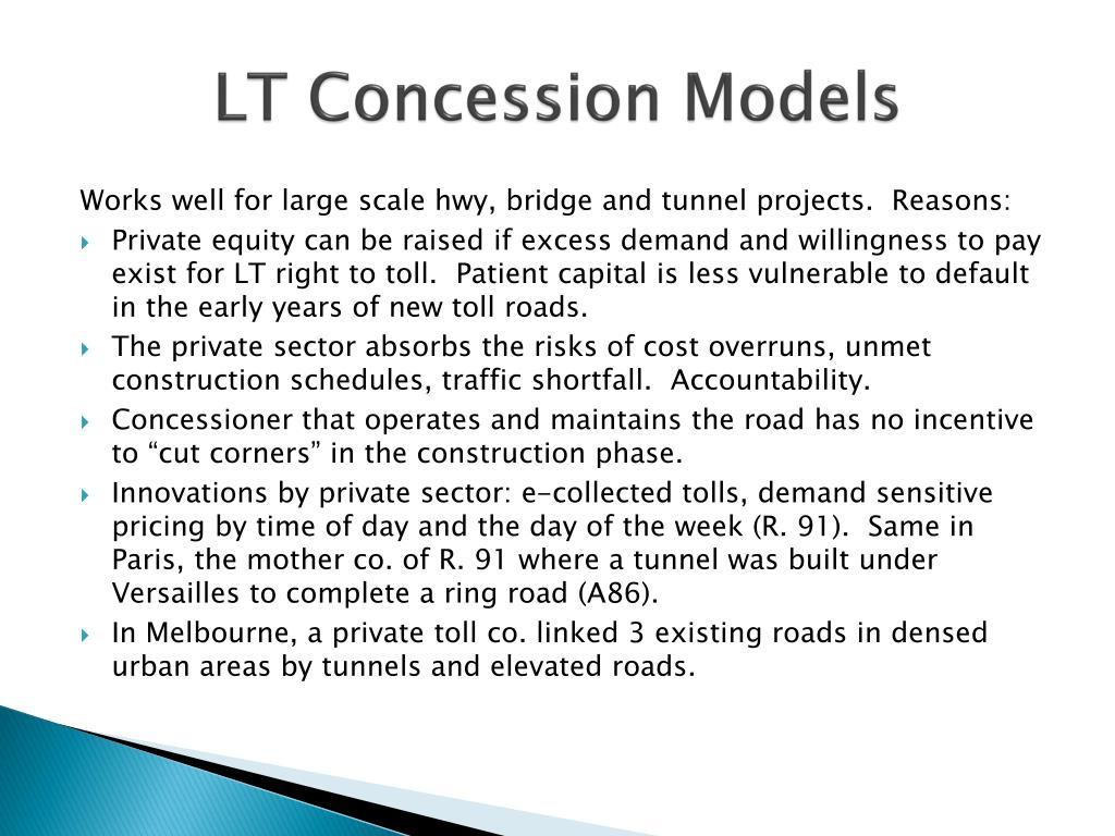 LT Concession Models