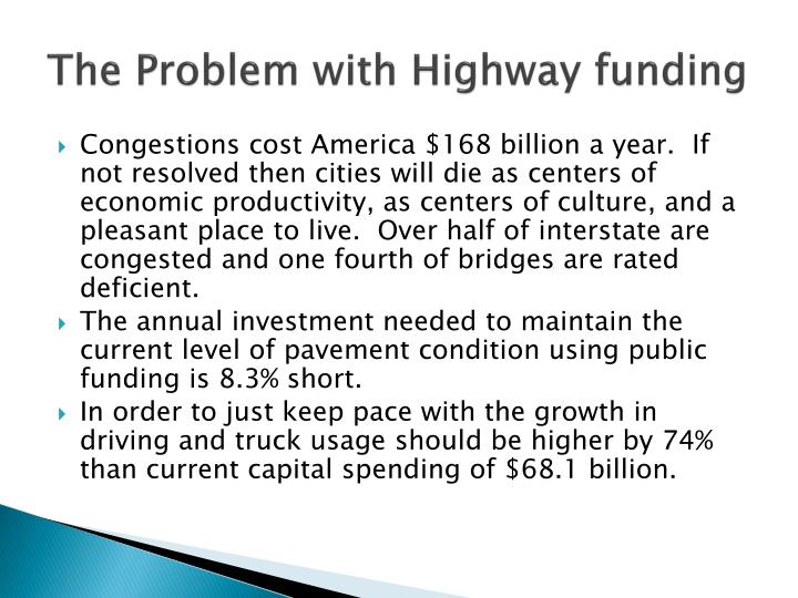 The problem with highway funding