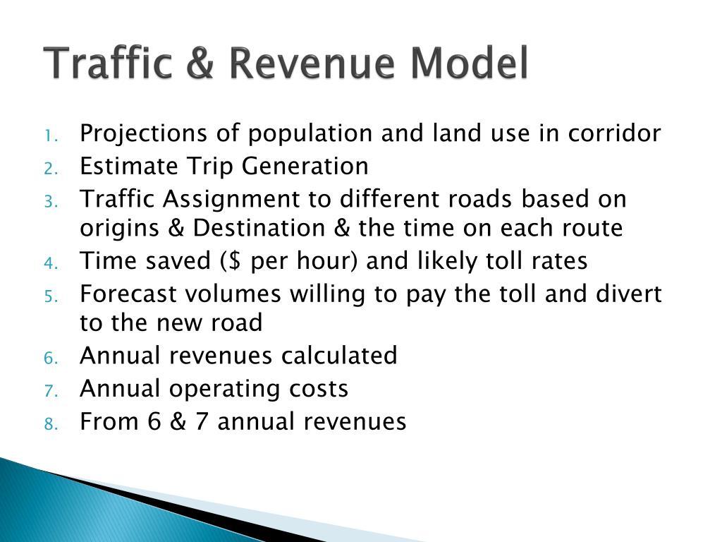 Traffic & Revenue Model