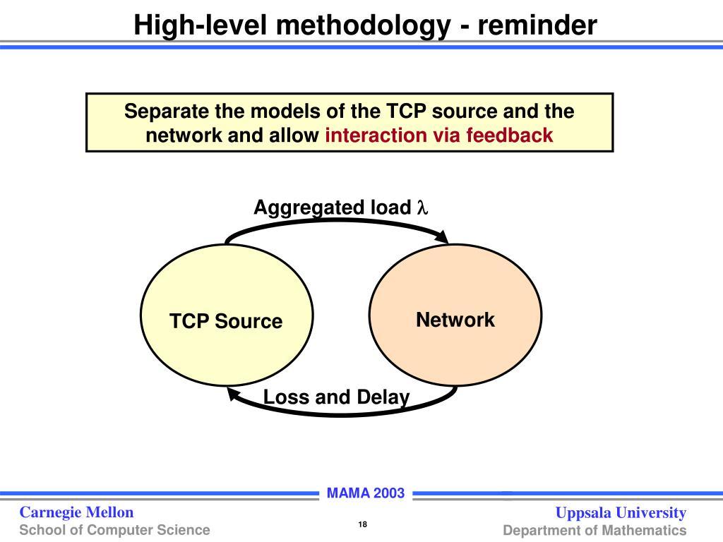 High-level methodology - reminder
