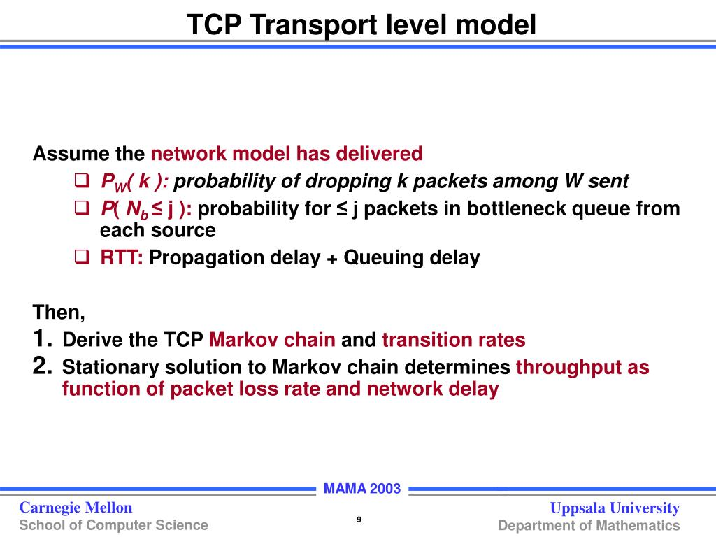 TCP Transport level model
