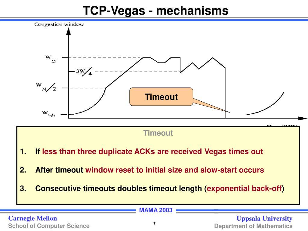 TCP-Vegas - mechanisms