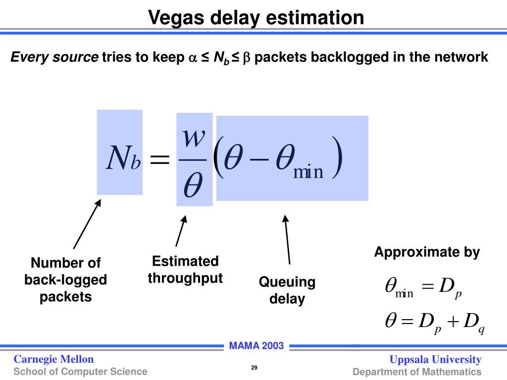Vegas delay estimation