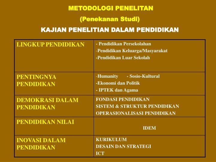 METODOLOGI PENELITAN