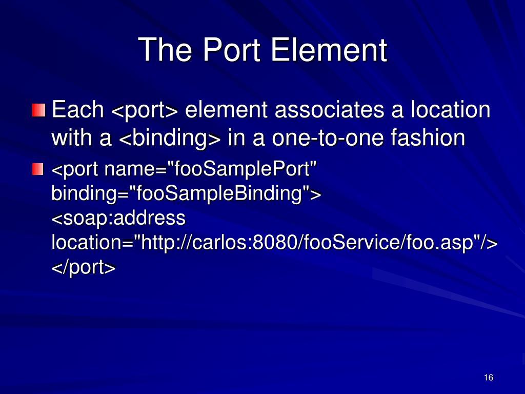 The Port Element